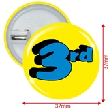 3rd Button Badges (10 Badges - 37mm)