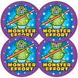 Monster Effort Stickers (35 Stickers - 37mm)