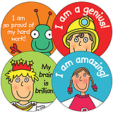 Mixed Pedagogs General 37mm Stickers x 35