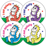 I Sat Quietly Stickers (35 Stickers - 37mm)