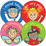 Pedagogs Stickers - Manners (35 Stickers - 37mm)