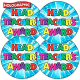 Holographic Head Teachers Award Stickers (35 Stickers - 37mm)