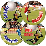 Football Stickers (35 Stickers - 37mm)