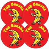 Top Banana Stickers (35 Stickers - 37mm)