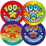 100% Attendance Stickers (45 Stickers - 32mm)