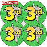 Holographic Third Stickers (35 Stickers - 37mm)