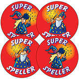 Super Speller Stickers (35 Stickers - 37mm)