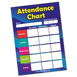 Attendance Chart Cards (20 Cards - A5)