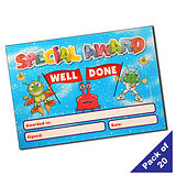 Pack of 20 Alien Glitter Certificates