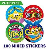 Reading Reward Stickers (100 Stickers - 32mm) Brainwaves