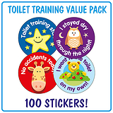 Toilet Training Stickers (100 Stickers - 32mm) Brainwaves