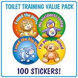 Potty Training Stickers (100 Stickers - 32mm) Brainwaves