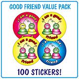 I'm a Good Friend Stickers - Alien (100 Stickers - 32mm)