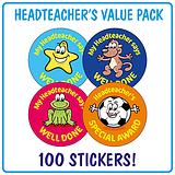 Headteacher's Reward Stickers (100 Stickers - 32mm) Brainwaves