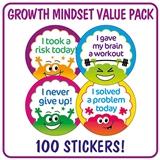 Growth Mindset Brain Stickers (32mm - 100 Stickers)