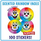 Scented Berry Stickers - Rainbow Smiles (100 Stickers - 32mm) Brainwaves