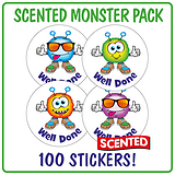 Scented Berry Stickers - Well Done Monsters (100 Stickers - 32mm)