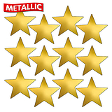 Metallic Gold Star Stickers (140 Stickers - 18mm)