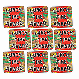 'Lunchtime Award' Sandwiches16mm Square Stickers x 140