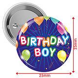Birthday Boy Badges - Blue (10 Badges - 25mm