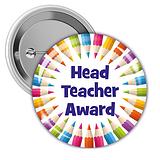Head Teacher Award Badges - Multi Coloured (10 Badges - 38mm)