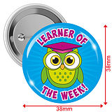 'Learner of the Week' Badges - Blue (10 Badges - 38mm)