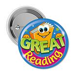 Great Reading Badges (10 Badges - 38mm) Brainwaves