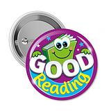 Good Reading Badges (10 Badges - 38mm) Brainwaves