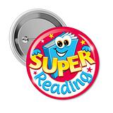 10 Super Reading 38mm Button Badges