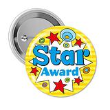 Star Award Badges (10 Badges - 38mm) Brainwaves