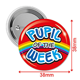Pupil of the Week Badges (10 Badges - 38mm) Brainwaves