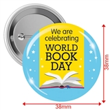 World Book Day Badges (10 Badges - 38mm)