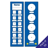 Bookmarks - Blue (30 Bookmarks)