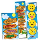 Book Signpost and Emoji Bookmarks (30 Bookmarks)