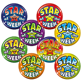 Star Of The Week Badges - Maxipack (40 Badges - 38mm) Brainwaves