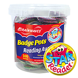 Reading Reward Badge Pot (100 Badges - 38mm) Brainwaves