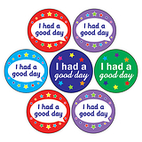 'I Had a Good Day'  Mixed 20mm Circular Stickers x 35