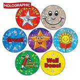 Holographic Reward Stickers (35 Stickers - 20mm)