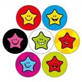 Smiley Star Stickers (35 Stickers - 20mm) Brainwaves