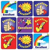 Excellent Stickers (35 Stickers - 20mm)