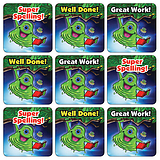 Alien Spelling Stickers (35 Stickers - 20mm)