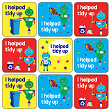 Tidy Up Stickers - Robot (35 Stickers - 20mm)