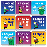 Tidy Up Stickers (35 Stickers - 20mm)