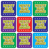 Deputy Head Award Stickers - Mixed Colours (35 Stickers - 20mm)