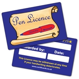 Pen Licence CertifiCARDS (10 Wallet Size Cards)