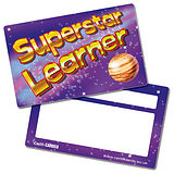 Superstar Learner Space Plastic CertifiCARDS (10 Cards - 86mm x 54mm)