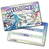 Well Done Plastic CertifiCARDS - Polar Scene (10 Cards - 86mm x 54mm)