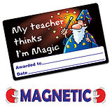 Pack of 10 Magnetic I'm Magic Cards