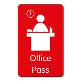 Office Pass - Plastic Class Pass (10 Wallet Sized Cards)
