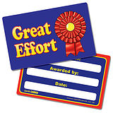 Great Effort Rosette Plastic CertifiCARDS (10 Cards - 86mm x 54mm)